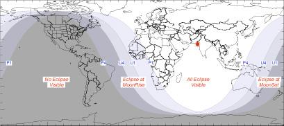 Visibilidad eclipse parcial del 31/12/2009