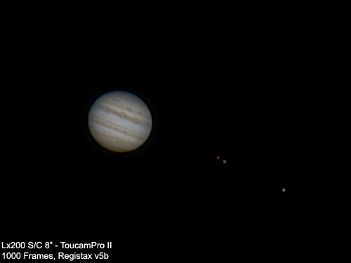 Júpiter y sus lunas (11/09/2009)