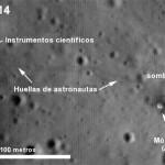 Fotografían con el LROC las misiones Apollo