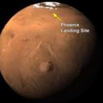 La Nasa detecta una nevada en Marte