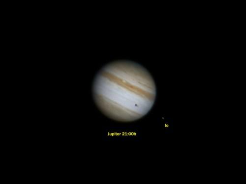 Júpiter, IO y el tránsito de su sombra