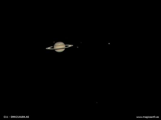 Saturno y sus satélites