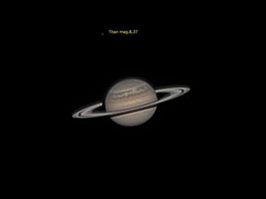 Saturno y Titán 11/05/2011