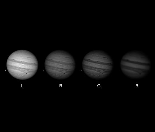 Jupiter: Canales LRGB