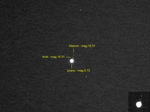 """Urano y sus lunas captado con un S/C 8"""""""