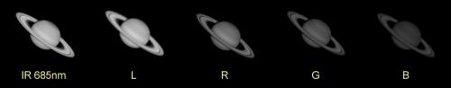 Saturno - Secuencia IR685, L R G B