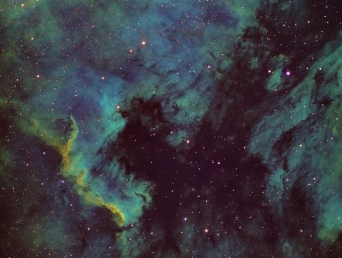 NGC7000 – Paleta Hubble SHO