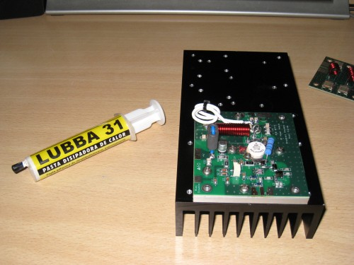 Radiador preparado para aplicar la pasta térmica