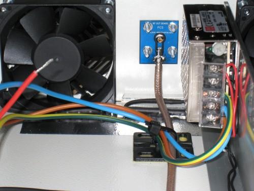 Detalle de la conexion RF y la alimentación 24v