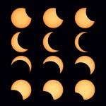 Secuencia eclipse parcial de Sol desde Barcelona (03-10-2005)