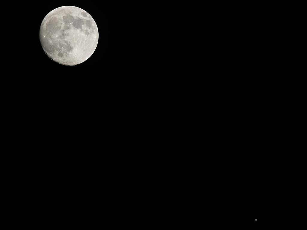 Conjunción de la Luna y Júpiter