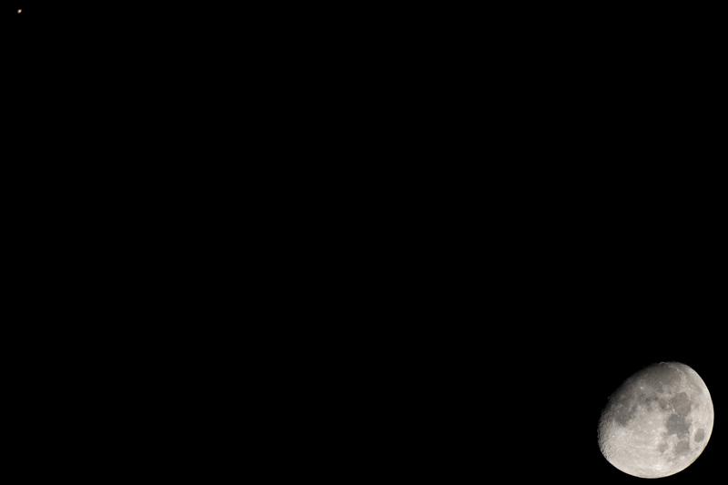 Conjunción de Marte y la Luna