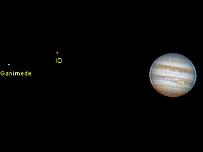 Júpiter, Ganimedes e IO