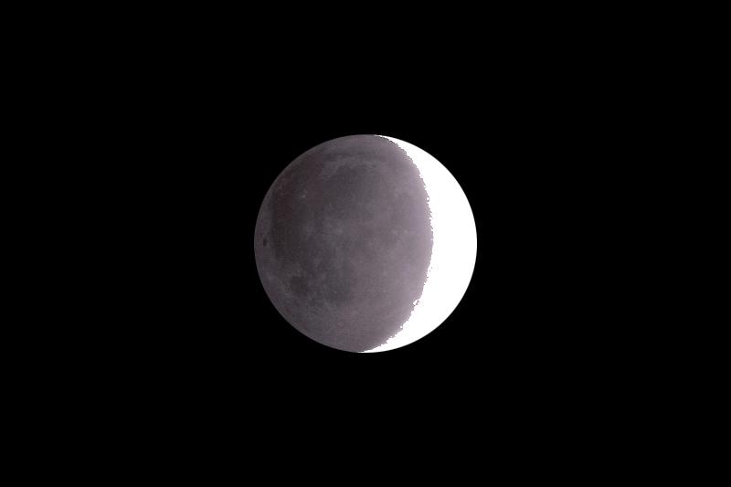 Luna Cenicienta con Celestron 150/750