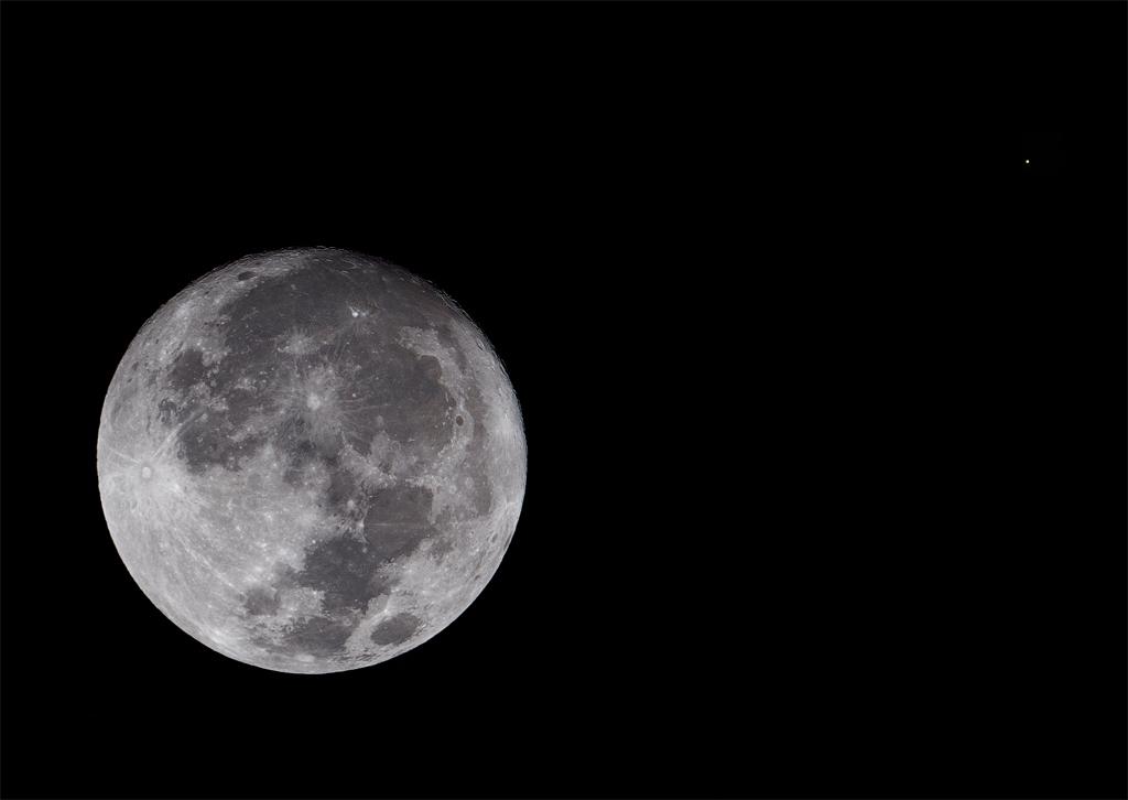 Conjunción de la Luna y Antares