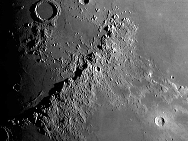 Cráteres: Montes Apenninus