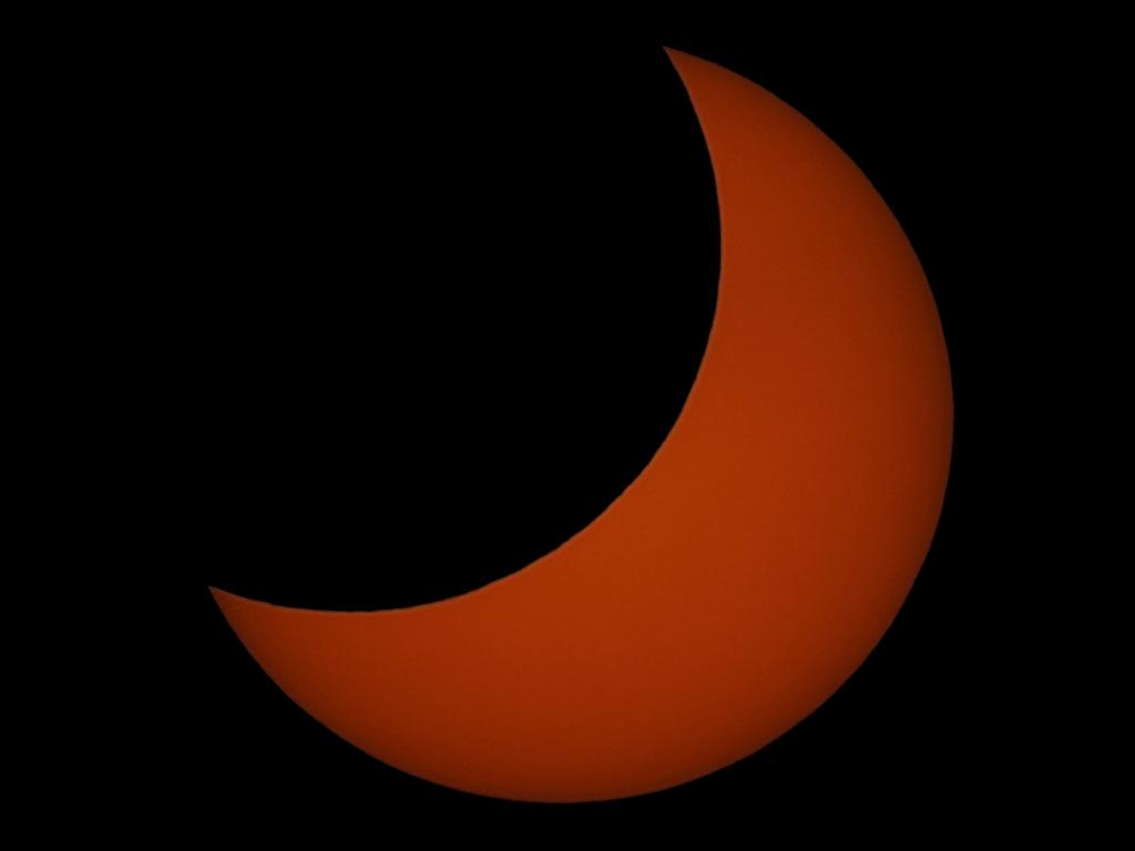 Eclipse parcial de Sol desde Barcelona (04-01-2011)