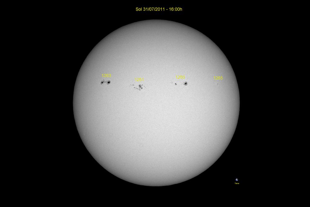 Manchas solares, luz blanca (31-07-2007)